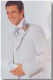 linen wedding suit