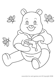pooh coloring sheets
