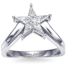 star shaped engagement ring