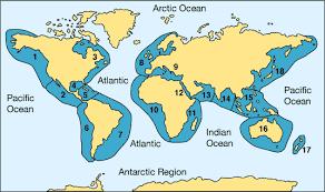 4 oceans map