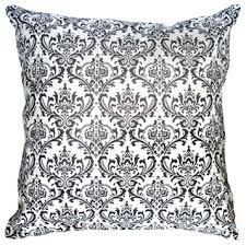 black white pillow