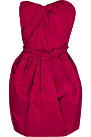 red bustier dress