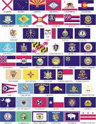 flags of us states