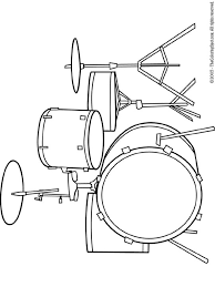 drum set coloring pages