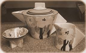 art deco dinnerware