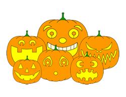 drawing pumpkin faces