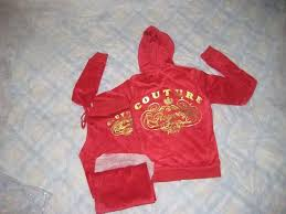 red juicy couture tracksuit