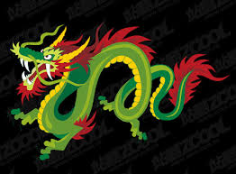 chinese dragon to colour