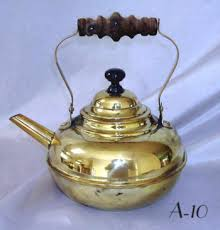 brass tea pots