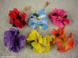 hawaiian flower hair