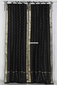 black silk curtain