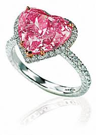 pink heart engagement rings