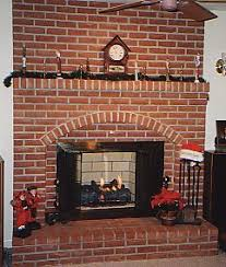 brick mantle