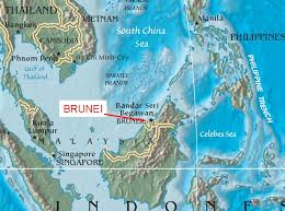 brunei on map