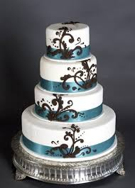 wedding cakes brown