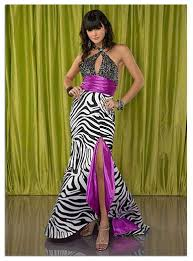 animal print gowns