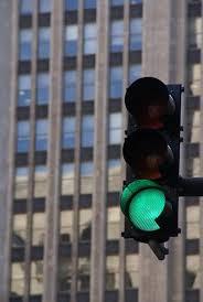 green stop light