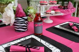 hot pink and black invitations