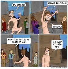 no clothes in public