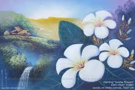 acrylic paintings flowers