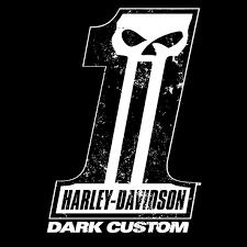 harley dark custom logo