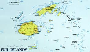 fiji island map