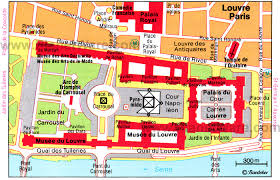 map of the louvre museum