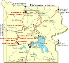 map of yellowstone park