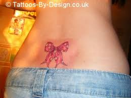 bow tattoos on back