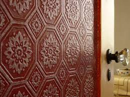 embossed wall paper