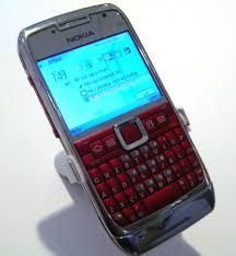 nokia e71 red steel