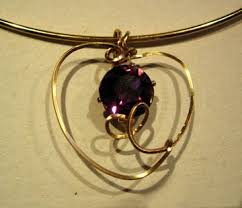 rhinestone heart pendant