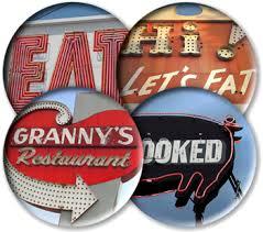 old diner signs