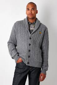lyle and scott cardigan grey
