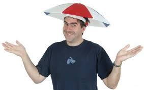 clear umbrella hat