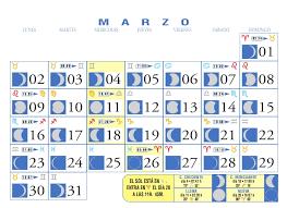 calendario mes de marzo 2009