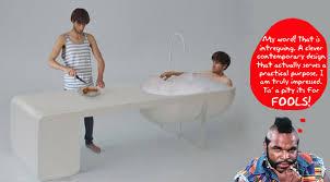bath tub table