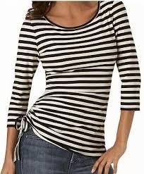 black and white striped shirt