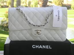 chanel white bag