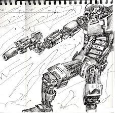 cool robot drawings