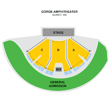 gorge amphitheater seating chart