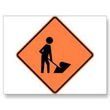 highway construction work