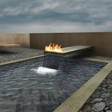 fire and water features