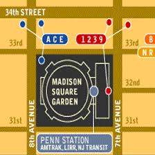 madison square gardens map