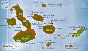 map of galapagos island