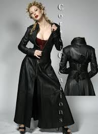 leather corset coat