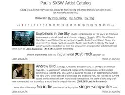 artists catalog