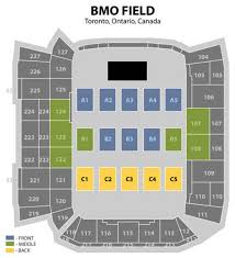bmo field seating map