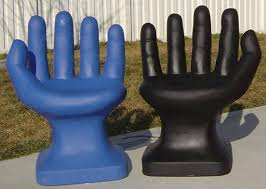hand shaped chairs