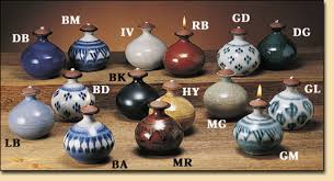 pottery oil lamps